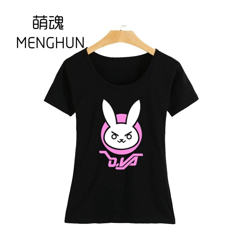 2017 herní fanoušci košile krásné dívčí tričko Vysoce kvalitní dívčí tričko OW krásné tričko DVA D.VA tričko různé barvy ac226-g