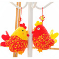 20cm Chick Pendant China Wind Cock Cloth Art Doll Plush Chicken Mini Toy Present For Kids Stuffed Plush Chook Best Gift 2 Colors