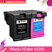 QSYRAINBOW Compatível cartuchos de tinta Para Deskjet HP652 Para HP 652 XL 1115 1118 2135 2136 2138 3635 3636 4536 4535 impressoras