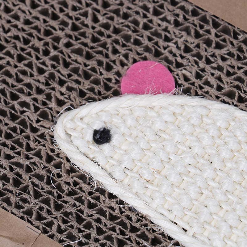 Yeni varış fare balık tarzı Pet kedi Scratch oyun pedi oluklu güvenli mukavva Scratcher oyuncak