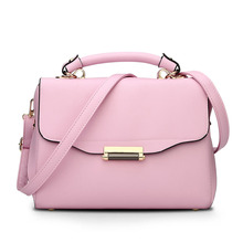 famous brand women bag hasp zipper clutch solid shoulder messenger bags solid casual totes hot sale pu leather handbag tote m694