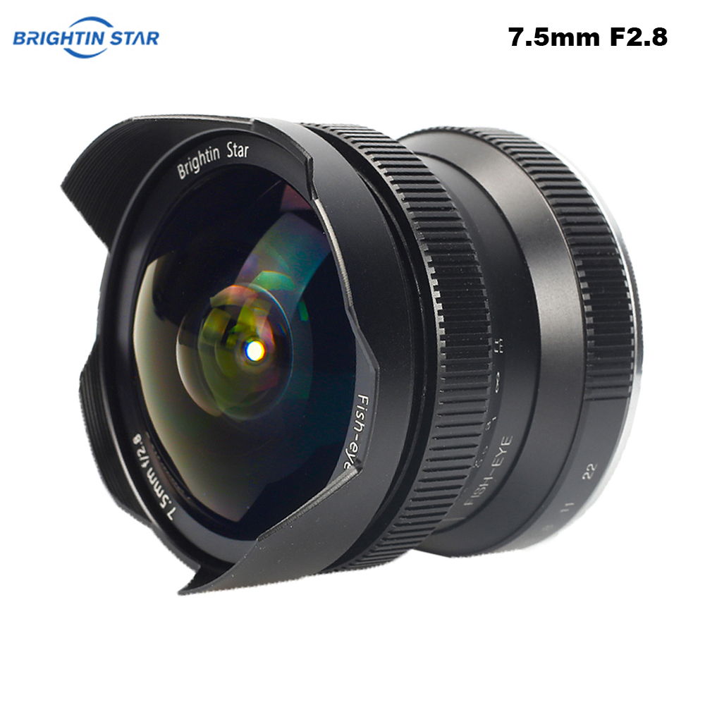 Brightin Star 7 5mm F2 8 Fisheye Lens Ultra Wide 180 Degree APS C Manual Fixed