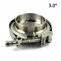 3 0 Quick Release V Band Clamp With Male Female Flanges Set In 304 Stainless Steel