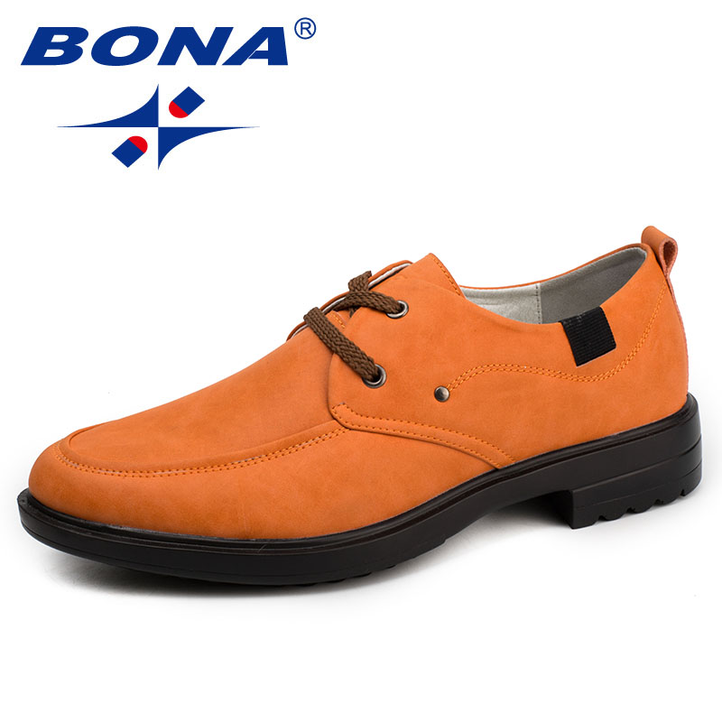 BONA New Fashion Style Men Casual Shoes Microfiber Men Loafers Lace Up Men Flats Comfortable Male