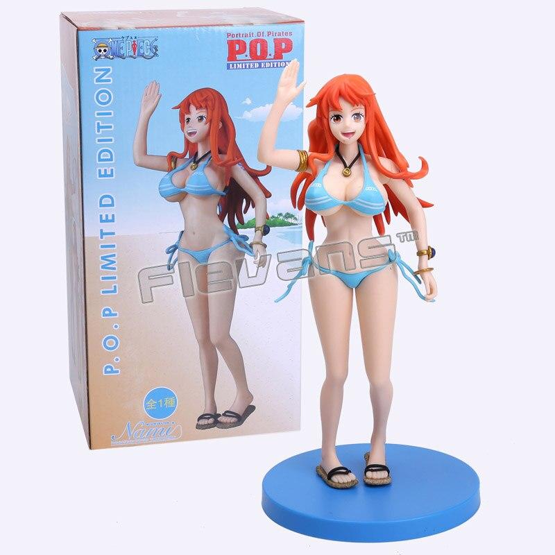 Anime One Piece Nami Bikini Ver. Sexy Limited Edition PVC Figure Collectible Toy 24.5cm стоимость