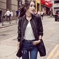 Новый женский уличной длинные траншеи пальто осень тонкий моды молния пальто тонкий с длинным рукавом верхняя одежда женщины твердые abrigo mujer
