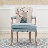 Европейский Американский стиль твердый деревянный обеденный стул ретро старый стиль кресло переговоры Повседневная Кофейня креативный ст
