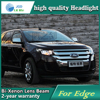 Car Styling Head Lamp Case For Ford EDGE Headlights LED Headlight DRL Lens Double Beam Bi