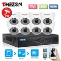 Tmezon 8ch 1080 p tvi dvr 8 pcs 2.0mp 1080 p câmera de segurança de vigilância cctv sistema de IR Led de Visão Noturna de até 40 m 1 TB 2 TB Kit HD