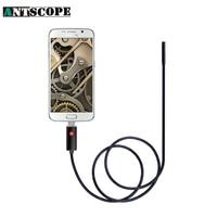 7mm Lens 2M Android Endoscope 3 Colors Inspection Waterproof Camera Endoscopio Mini USB Snake Camera Endoscope