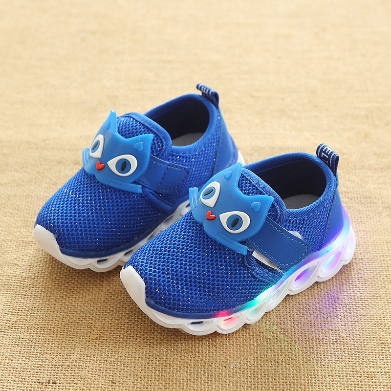 New 2018 cool baby shoes new brand European fashion b cool kids sport sneakers LED lighting girls boys shoes cute kids shoes