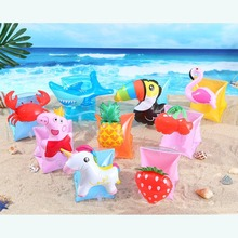 лучшая цена 2017 Baby Arm Swimming Ring Child inflatable swim pool swimming arm ring safety training swimming arm circle float ring 5 colors