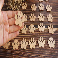 Деревянные лапы для собак, ремесленные формы, фанера, животное для домашних животных
