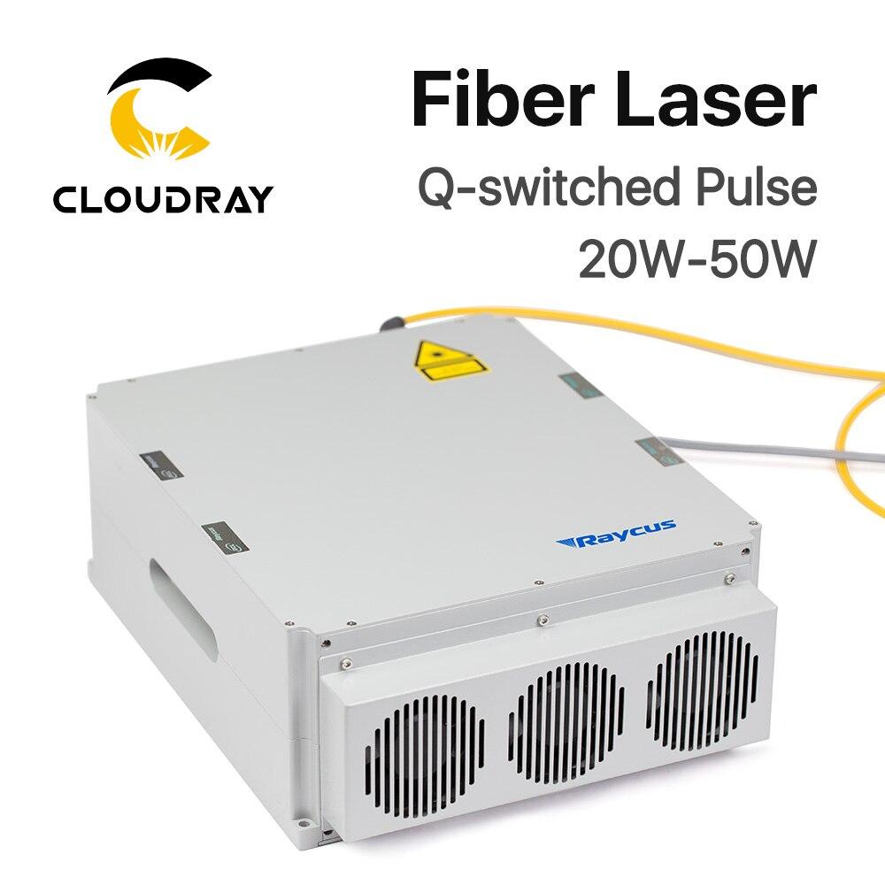 Raycus 20 W-50 W Serie Q-switched Impulso Laser a Fibra Macchina Per Marcatura Laser 1064nm di Alta Qualità GQM PARTE FAI DA TE