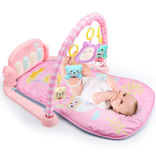 лучшая цена Baby Play Mat 3 in 1Baby Gym Toys Soft Lighting Rattles Musical Toys For Babies Educational Toys Play Piano Gym Baby Gifts