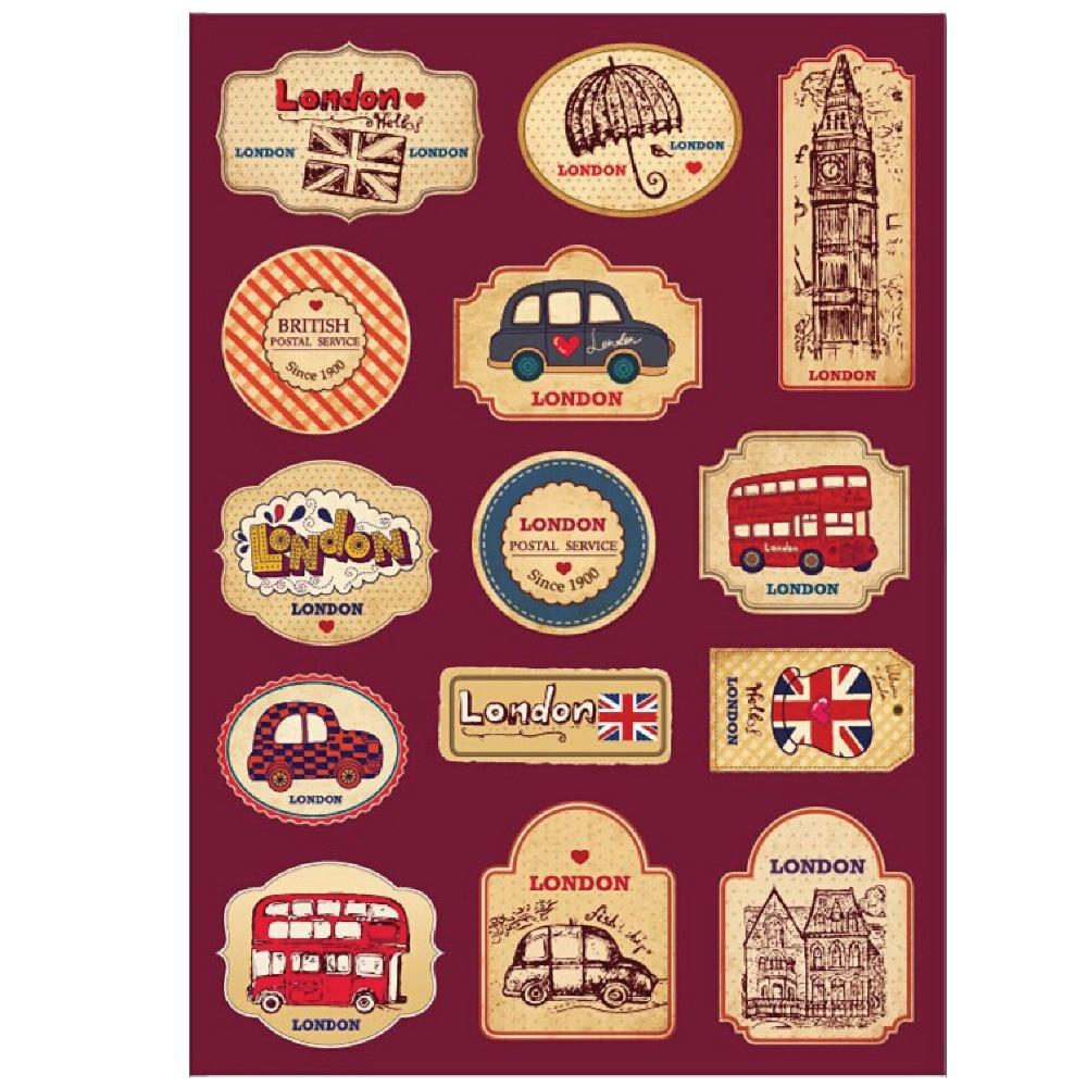 """""""Vintage London Tower"""" autobusų pašto tarnybinis lipdukas """"Karštų dekoracijų"""" lagaminų kelioniniai lipdukai lagaminams nešiojamojo kompiuterio gitara"""