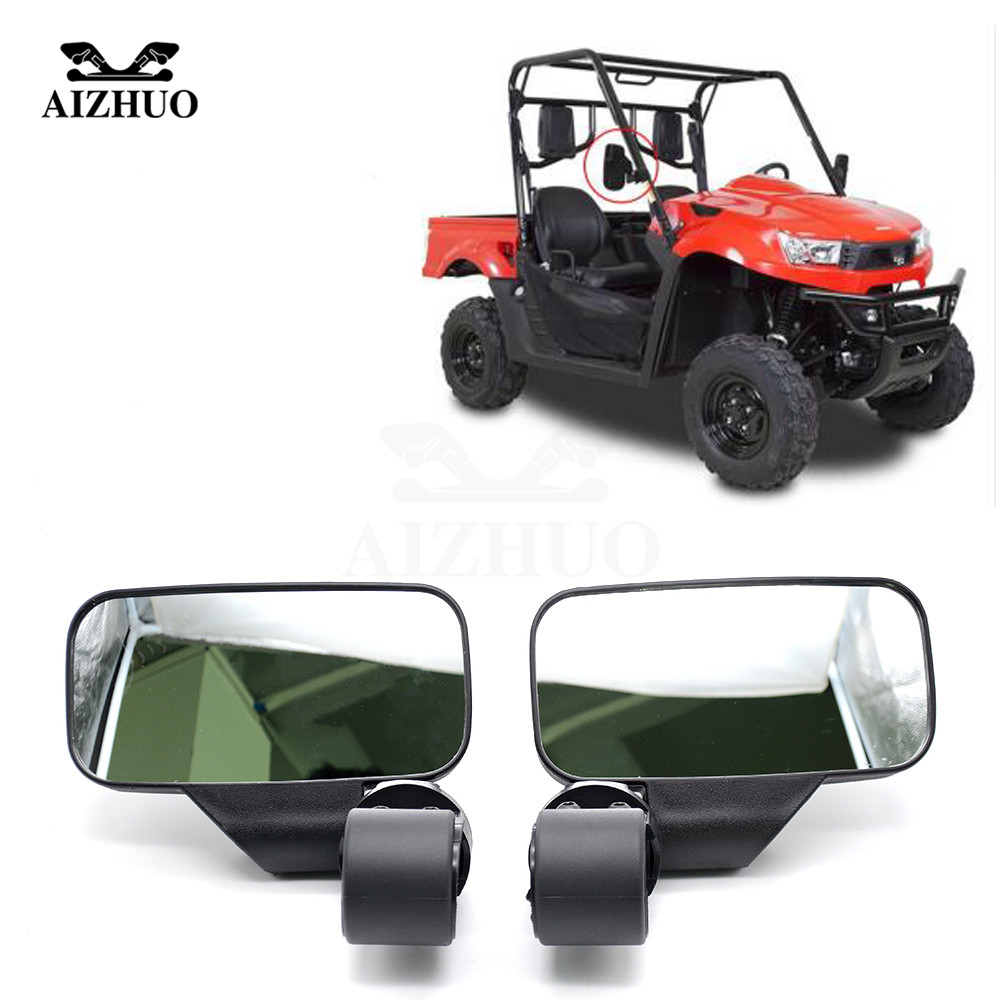 1 Pair Mirror Review Side Mirror Universal For UTV ATV Off road Large Wide View Race