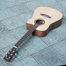 Guitarras eléctrica acústica sólido acero cuerdas baladas folk pop Flattop 41 pulgadas Guitarras ra picea asperata corte de luz electro