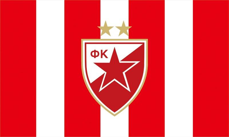 Details About Serbia Fk Crvena Zvezda Red Star Belgrade Football Soccer Logo Flag Banners Gift