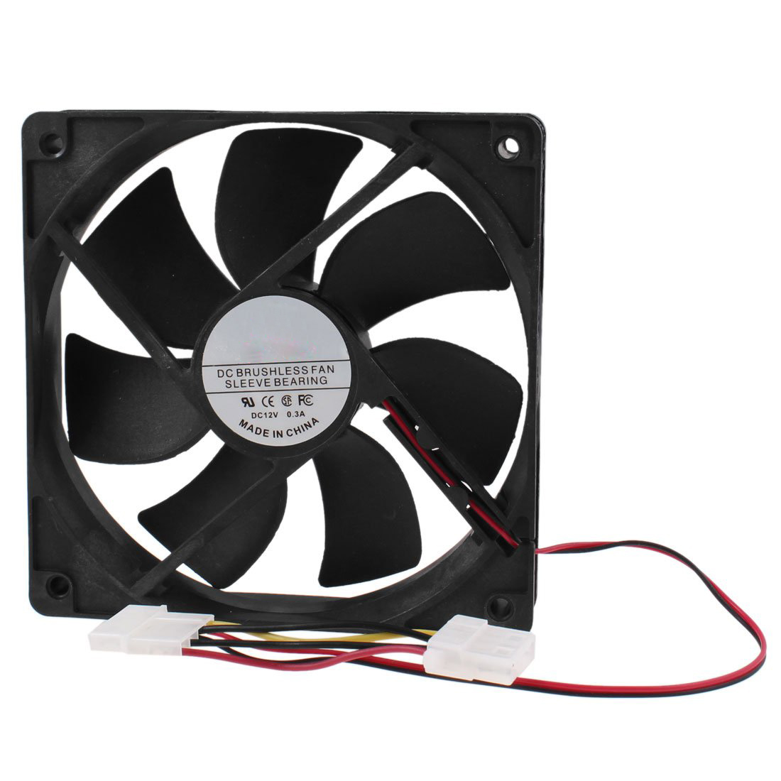 PC Brushless DC Cooling Fan 4 Pin Connector 7 Blades 12V 12cm 120mm original delta afc1212de 12038 12cm 120mm dc 12v 1 6a pwm ball fan thermostat inverter server cooling fan