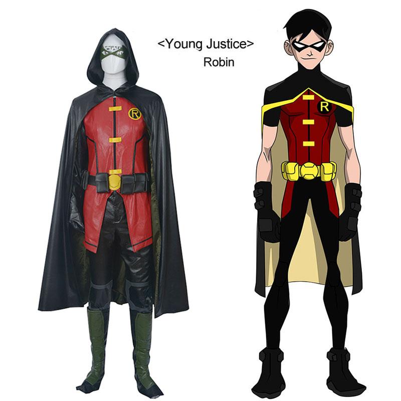 2018 Новый Лига Справедливости VS Teen Titans Дамиан Уэйн карнавальный костюм костюмы на Хэллоуин для взрослых костюм супергероя Teen Titans c