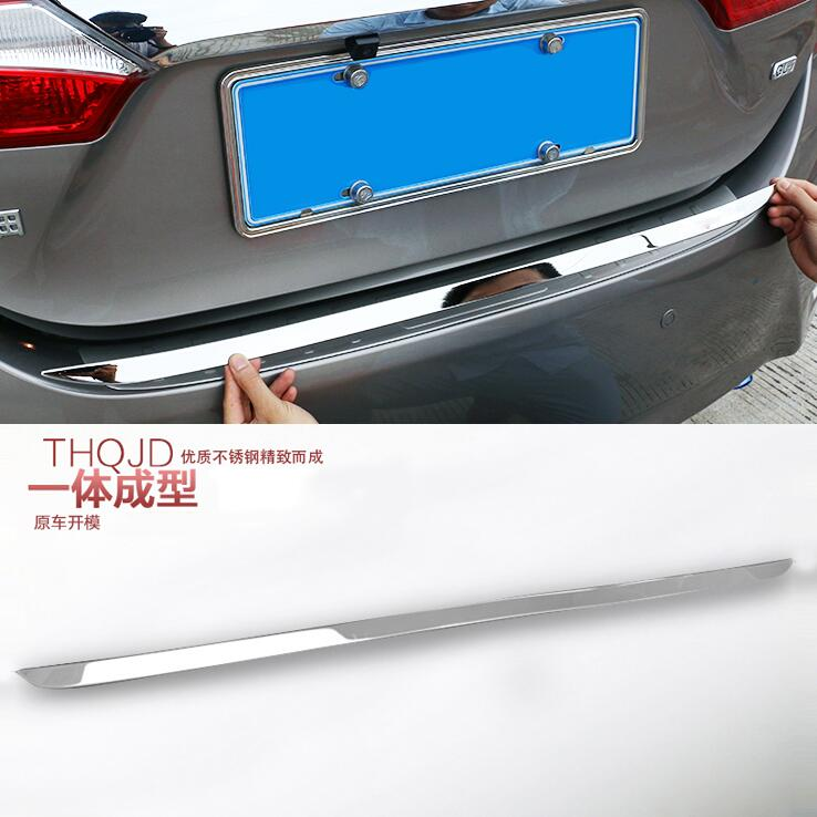 Fit For Toyota Corolla Altis 2014 2015 2016 2017 Chrome Rear Trunk Lid Edge Tailgate Boot Door Cover Trim Garnish Molding Strip