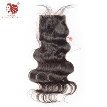 [FYNHA]Brazilian Body Wave Silk Base Lace Closure Virgin Hair Natural Color 100% Human Hair Free Shipping