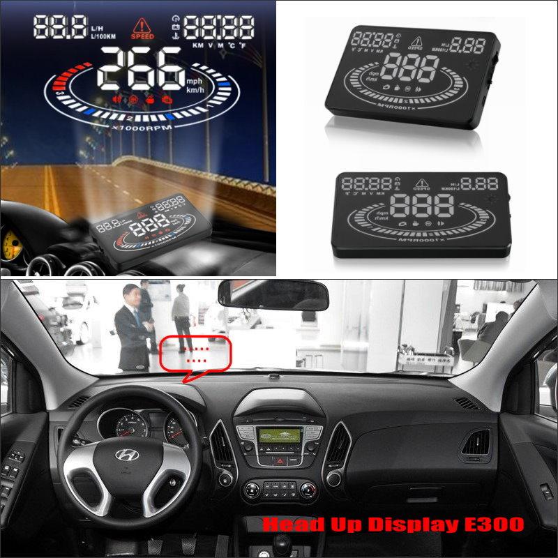 Veículo HUD Cabeça Up Display Para Hyundai ix35/Tucson 2009 ~ 2016-Safe Driving Projetor De Tela Refkecting Brisa