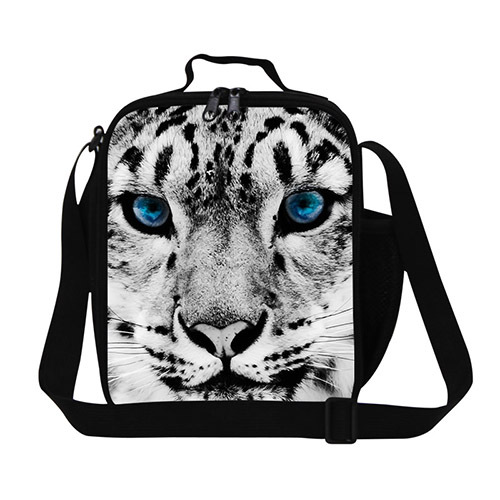 Dispalang unique animal tiger thermal lunch bag leopard head insulated bags for food cool lunchbox for office lady picnic bag