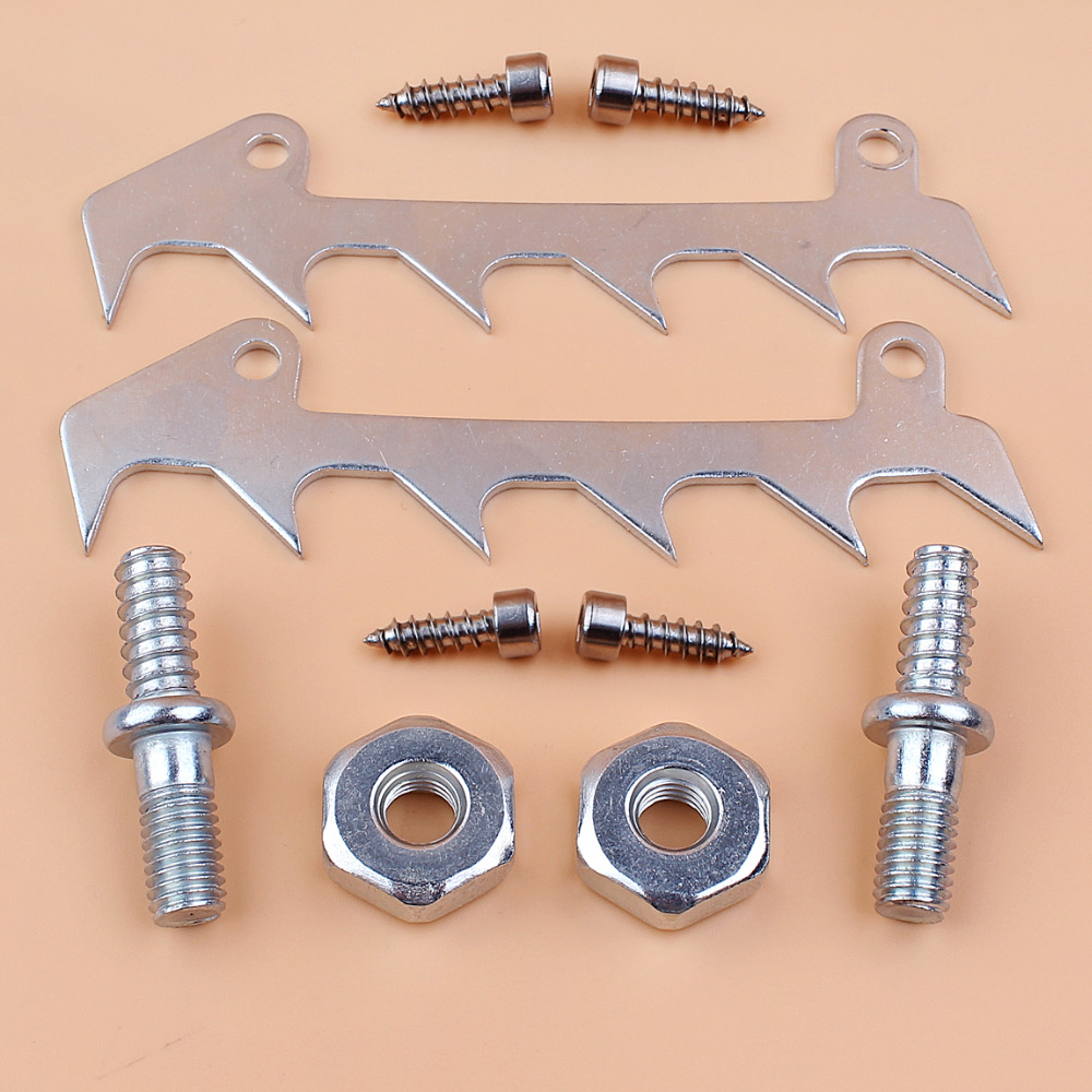 2 Pairs Bar Studs /& Nuts For STIHL 017 018 MS170 MS180 Chainsaws Replacement