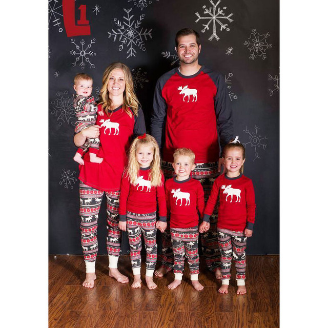 Family Christmas Pajamas Set Warm Adult Kids Girls Boy Mommy Sleepwear  Nightwear Mother Daughter Clothes Matching 0ff86b9a6