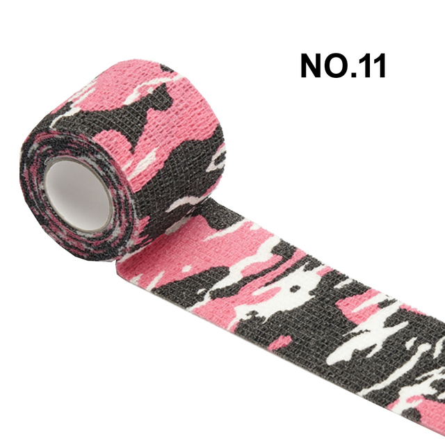 1 Roll 5*450cm Disposable Self-adhesive Flex Elastic Camouflage Bandage Tattoo Handle Grip Tube Wrap Elbow Stick Medical Tape 5