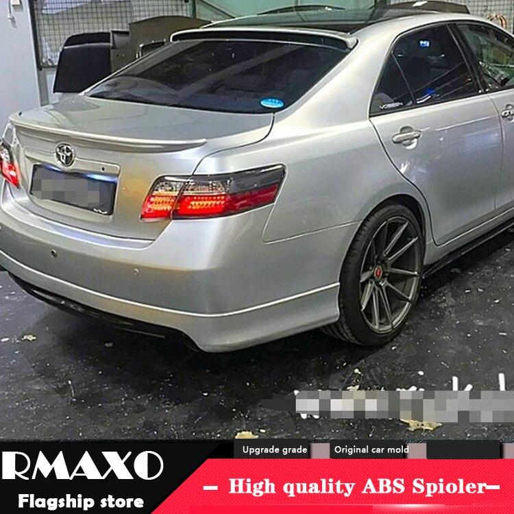 Para toyota camry spoiler 2007-2011 de alta qualidade material abs asa traseira do carro primer cor spoiler traseiro