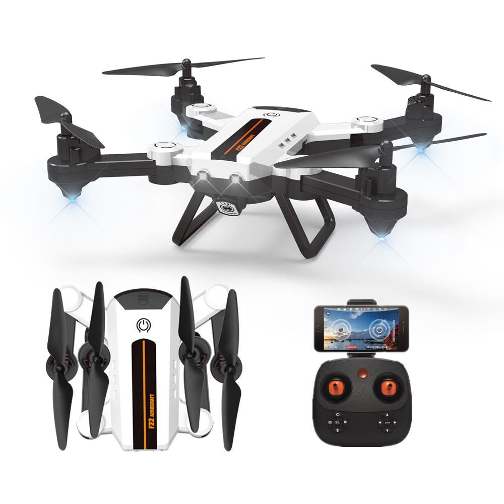 RC Drone Foldable 2.4G F22G Drone Helicoputer WiFi FPV 2MP Wide Angle Camera Optical flow positioning Altitude Hold Quadcopter