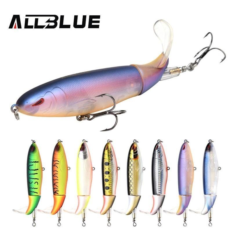 ALLBLUE 2018 NEW Whopper Plopper Fishing Lure 90MM 13g Topwater Hard Bait Flexible Soft Plastic Tail Fishing Bait Wobbler WP90