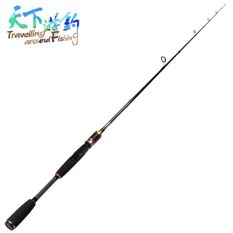 1.8M Freshwater Spinning Lure Rod Rod Fiber Fishing Saltwater Carbon Pole US