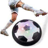 Air Power Soccer Football LED Light Flashing Ball Toys Disc Gliding Multi-surface Hovering Football Game Gift for Kid Chidren