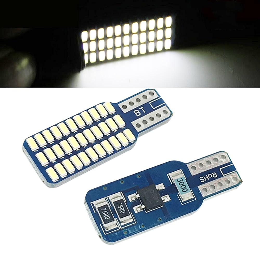 Lâmpadas de led para carro t10 w5w, 33 smd 3014, luzes traseiras de carro, 192 194, 168, luz para porta-malas, branca dc 12v