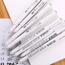 8 pçs/set Pigma Mícron caneta fina caneta linha Pincel de ponta fina de Mapeamento de design Gráfico Marcadores Da Arte Projeto Pintura