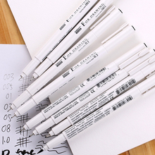 8 stks/set Pigma Micron Grafische ontwerp pen fijne lijn pen Borstel fijne punt Mapping Art Markers Schilderen Ontwerp