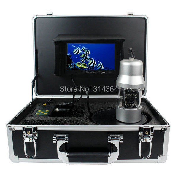 1/3 SONY CCD Effio-E 700TVL Underwater Fishing Camera Fish Finder 7 TFT LCD Monitor 20M Cable 14pcs White LED Rotate 360 Degree 20m cable underwater fishing camera fish finder with 1 3 sony ccd effio e 12pcs white leds camera night vision rotate 360 degree