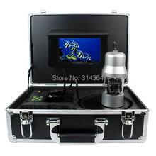 """1/3 SONY CCD Effio-E 700TVL cámara pesca submarina buscador de los pescados 7 """" TFT LCD Monitor 20 M Cable 14 unids LED blanco girar 360 Degree"""