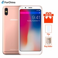 DOOGEE X53 5.3 18:9 Mobile Phone Android 7.0 MTK6580M Quad Core 1GB RAM 16GB ROM 5MP Dual Rear Cameras 3G WCDMA Cell Phone OTA