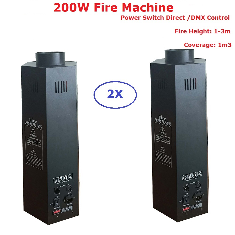 2Pcs/Lot Stage Dj Fire Machine Flame Machine Dj Disco Effect Equipments DMX Or Power Switch Direct Control 1-3 Meter Fire Height