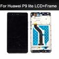5.2 pulgadas de calidad superior 100% probado para huawei p9 lite pantalla lcd con pantalla táctil digitalizador asamblea con marco + herramientas