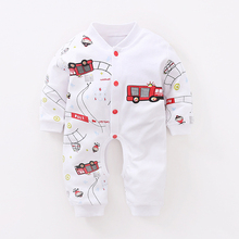 YiErYing Newborns Baby Romper Clothes 100% Cotton Long Sleeved Cartoon Sleep & Play Infant Jumpsuit