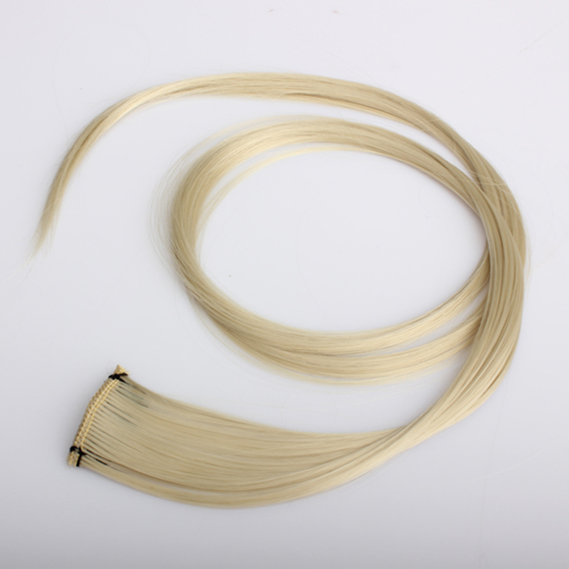 Light Blonde Long Punk Clip On Hair Straight Extensions  MH88