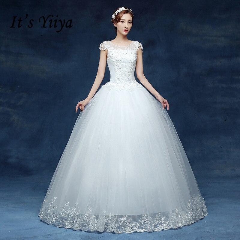 Free Shipping Vestidos De Novia Real Photo Wedding Dresses Crystal Lace O-neck White Cheap Princess Bling Bride Frocks HS228
