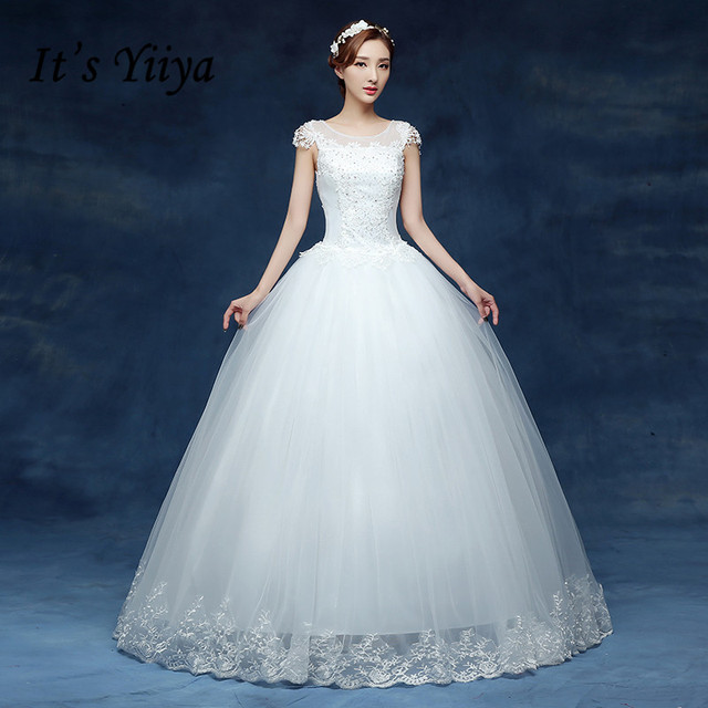 Free Shipping Vestidos De Novia Real Photo Wedding Dresses Crystal ...