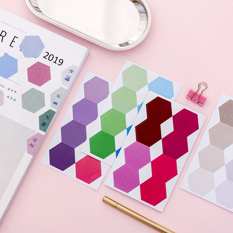 Cute Kawaii Gradient Memo Pad Sticky Notes Stationery Sticker Index Posted It Planner Stickers Notepads Office School Supplies